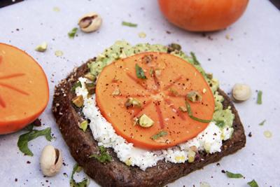 Food-Healthy-Avocado and Persimmon Toast