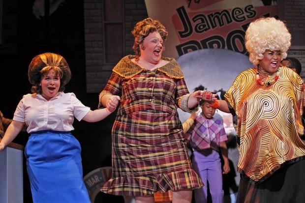 "Lillian Castillo, Michael Lindner and Felicia Fields star in ""Hairspray"" at Drury Lane Theatre in Oakbrook Terrace, Ill."