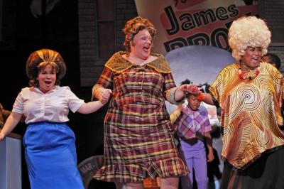 "Lillian Castillo, Michael Lindner and Felicia Fields star in ""Hairspray"" at Drury Lane Theatre in Oakbrook Terrace, Ill."