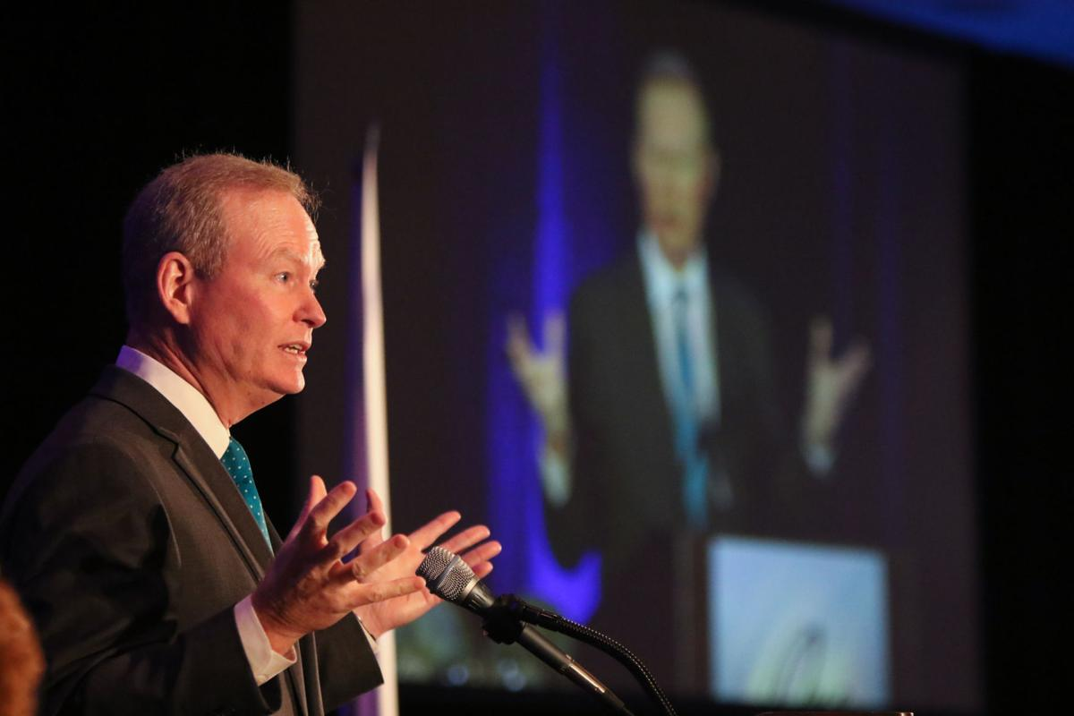 Oklahoma City Mayor Mick Cornett addresses the One Region luncheon