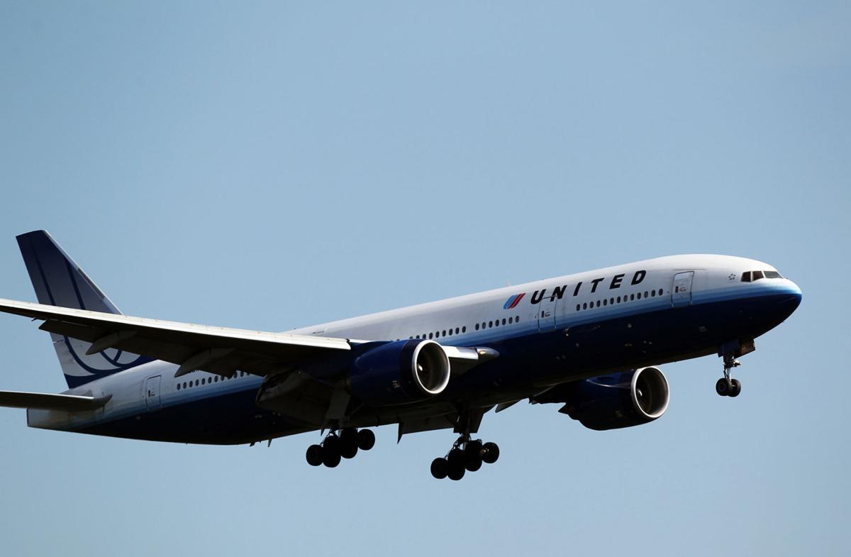 A United Airlines plane comes in for a landing at O'Hare International Airport in 2010 in Chicago.