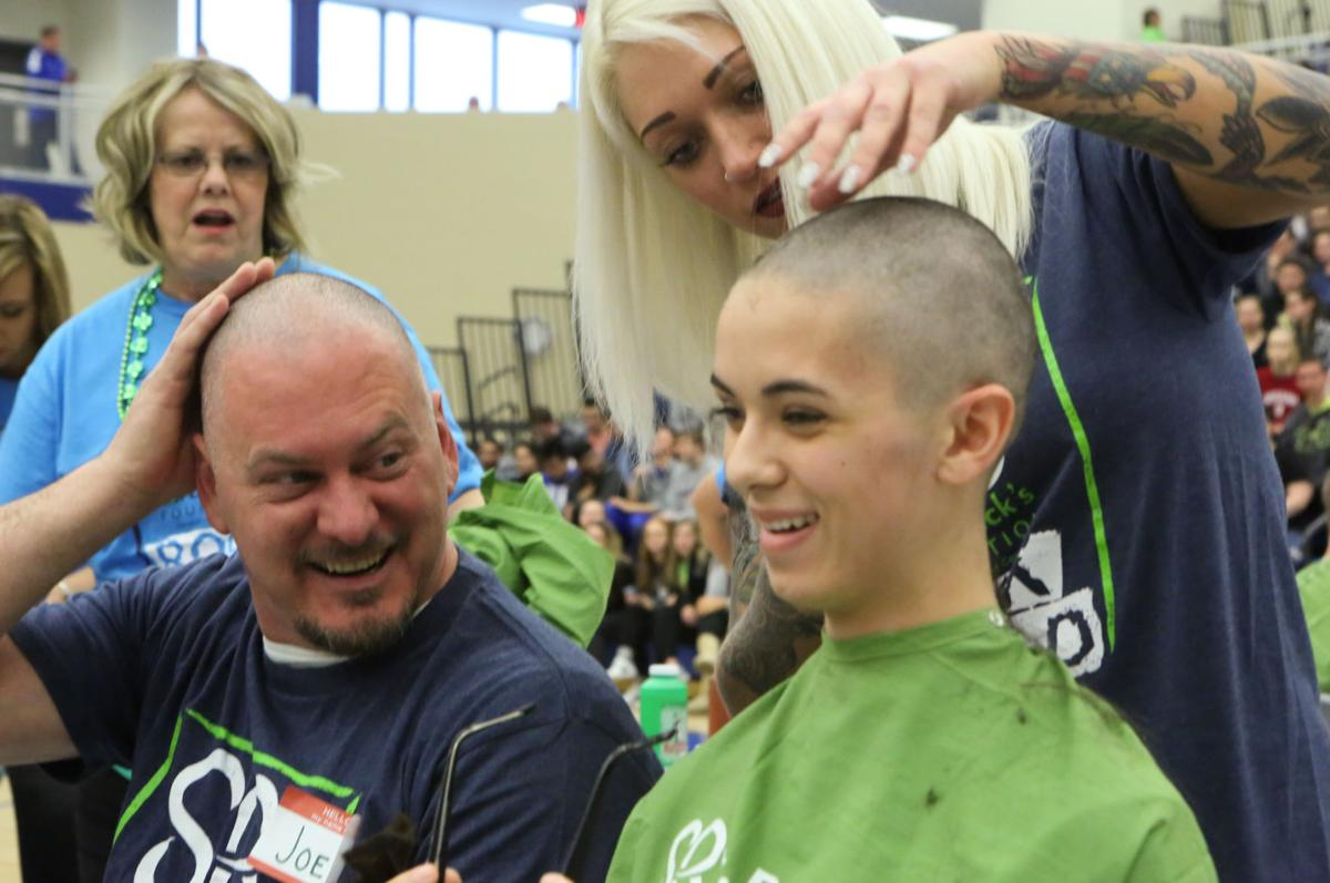 Lake Central students get their heads shaves for a good cause