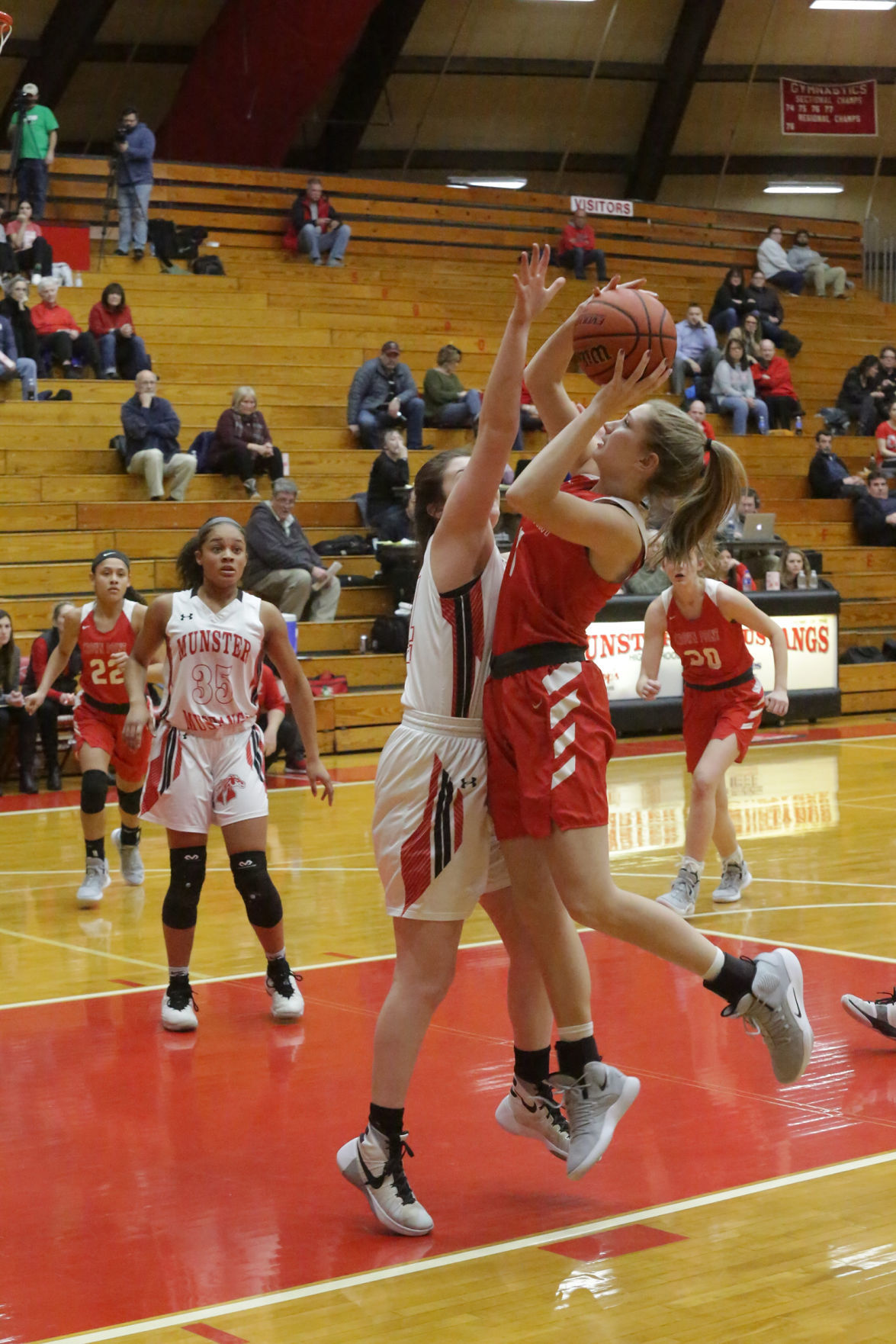Crown Point at Munster girls basketball