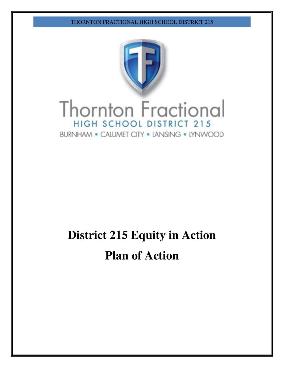 Thornton Fractional District 215 Equity Plan of Action