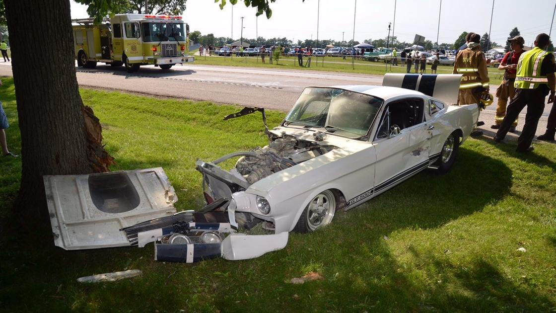 Laporte co man crashes mustang at cruise night laporte for Laporte county jobs
