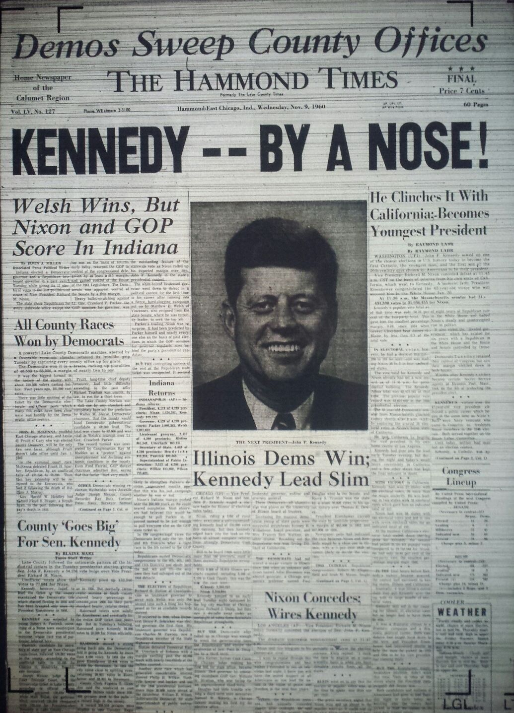 Picture of: Gallery Times Front Pages From Presidential Elections Since Kennedy 2016 Election Nwitimes Com