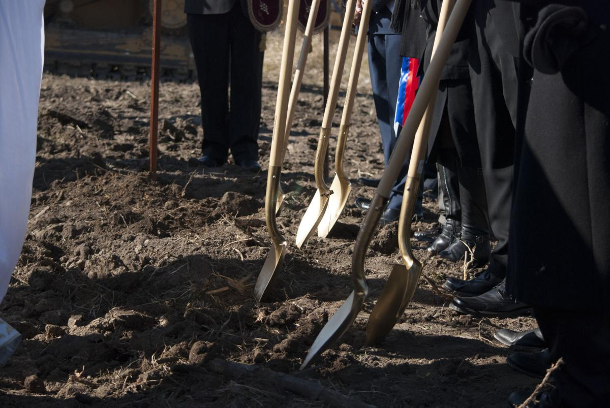 Church blesses land, breaks ground for cemetery