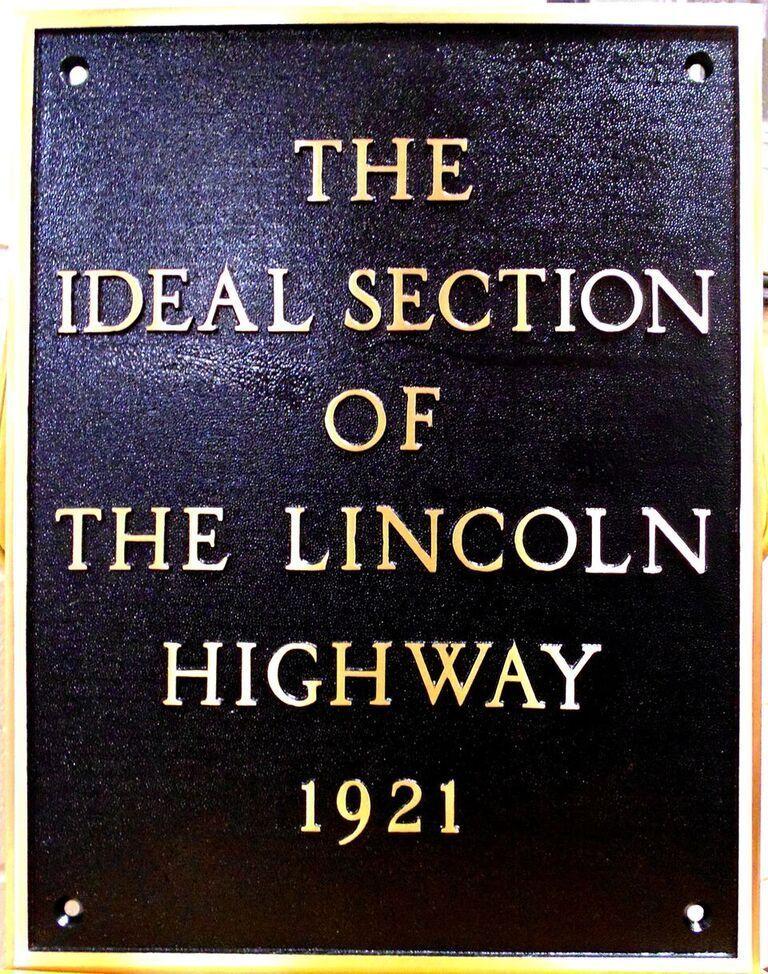 Restored plaque