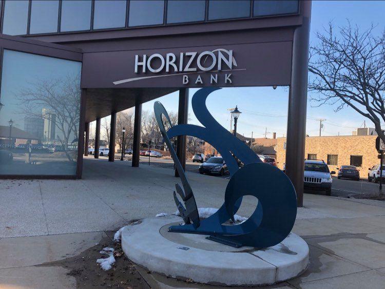 Horizon Bank donates to feed the needy via the Hilltop Food Pantry