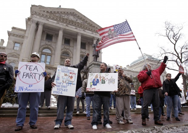 Tea Party protests at Statehouse