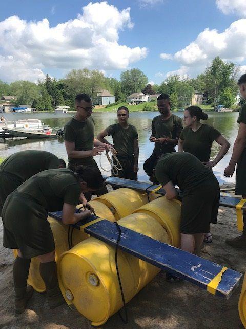 Michigan City High School cadets train at national JROTC camp