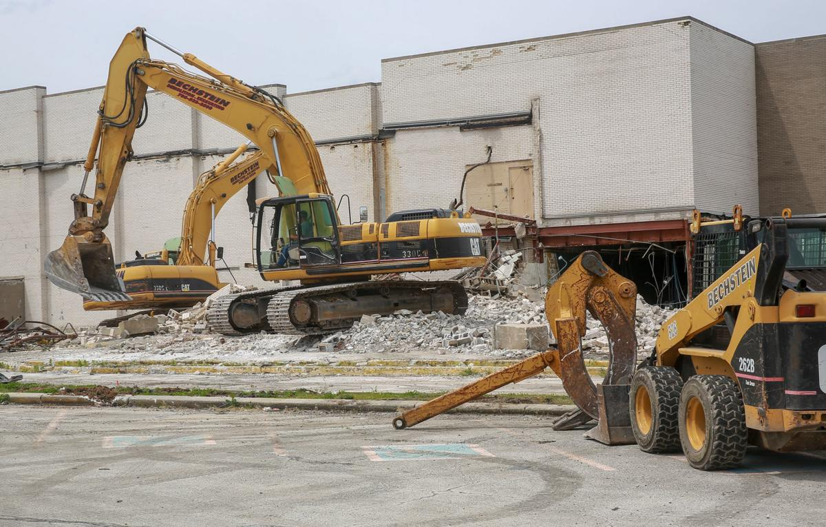 River Oaks Theater being torn down