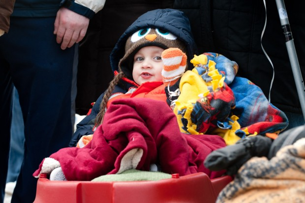 Cops, firefighters join CN staff in brightening day of train-loving kid fighting brain tumor