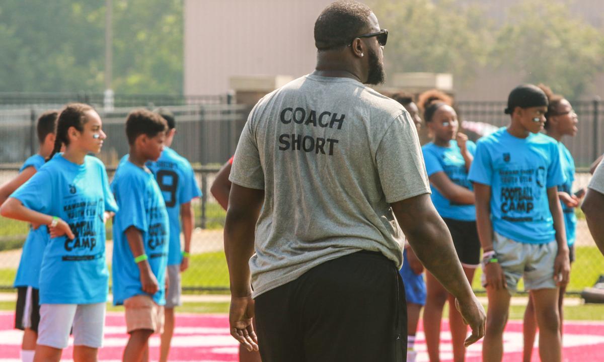 Kawann Short football camp at East Chicago Central High