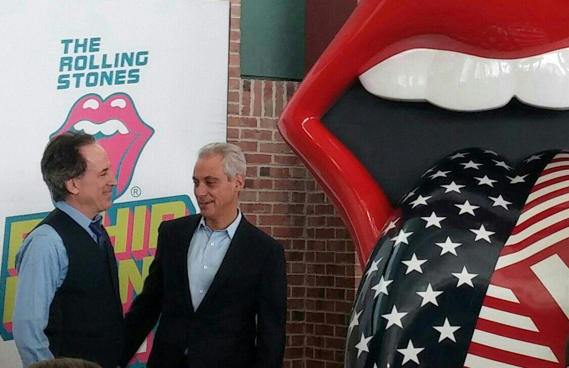 announcement of Rolling Stones exhibit