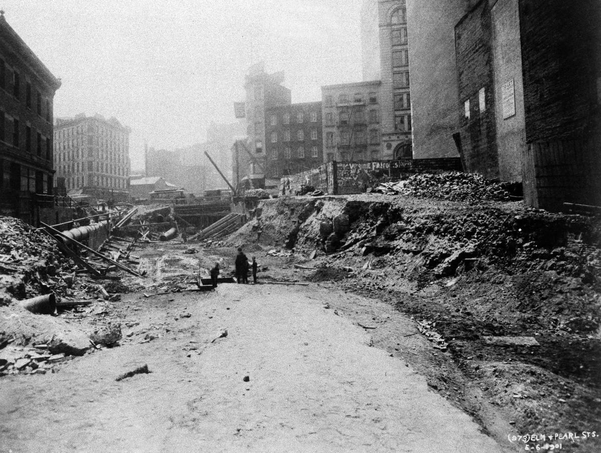 NYC subway excavation 1901