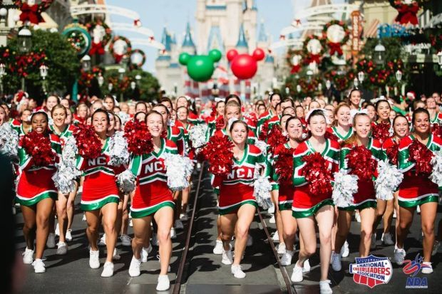 phs cheerleader leads off disney christmas parade