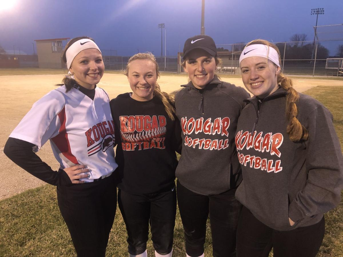 Kankakee Valley softball players