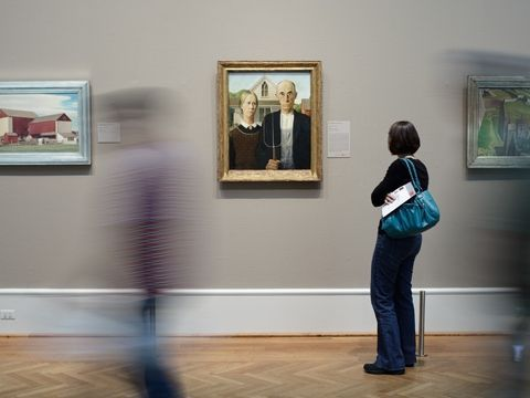 Chicago Art Institute Modern Woman Painter Frame Pieano