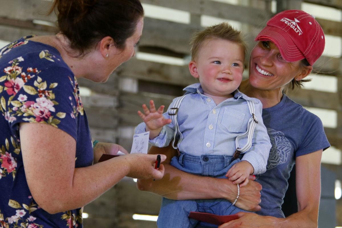 Cutest baby contest at the Porter County Fair