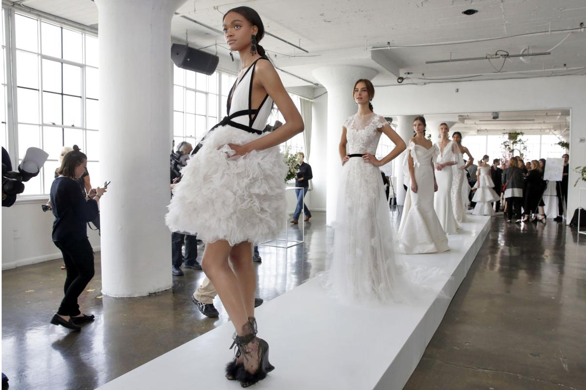 What\'s new in bridal trends? Black accents, all-over beading ...