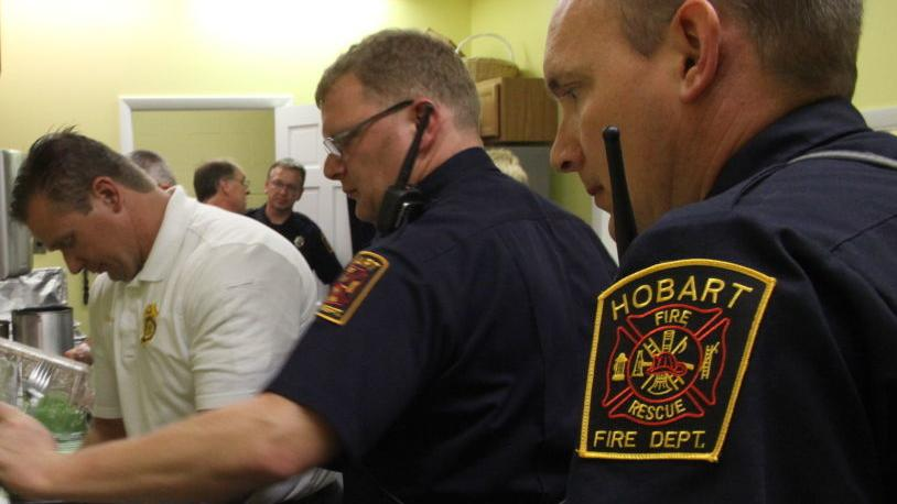Firefighters gather medical equipment for elderly, baby items for new parents