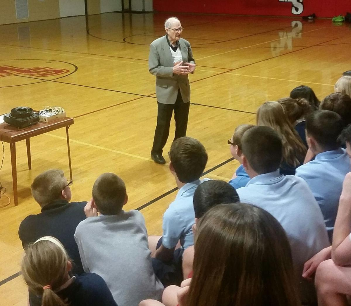 Holocaust survivor shares history and a message with students