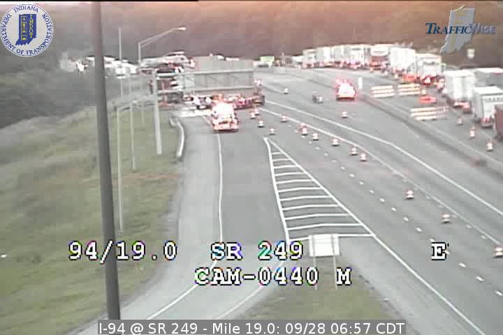 Semi fire, hazmat situation causes traffic mess in Portage, Indiana