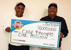 Illinois brothers share $1M Hoosier Lottery ticket purchased in Hammond