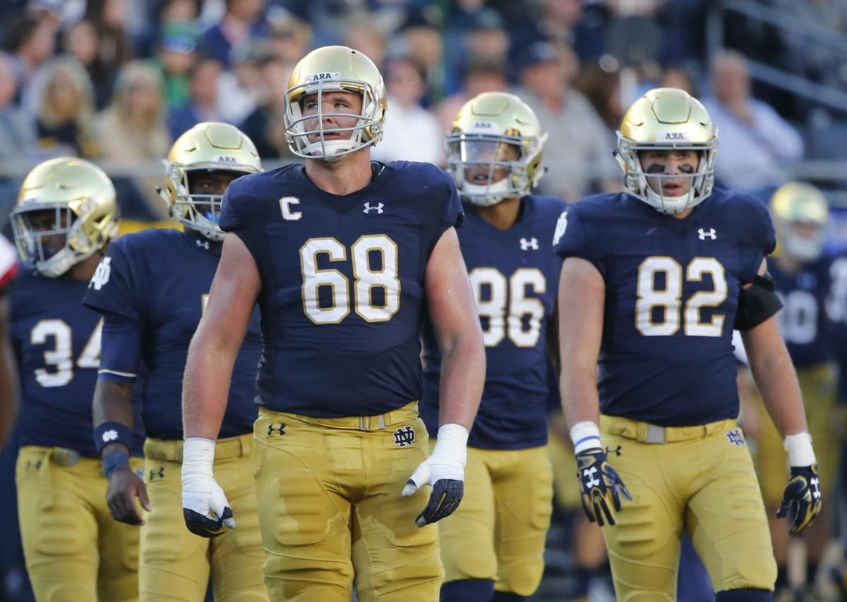 Notre Dame Offensive Line Football