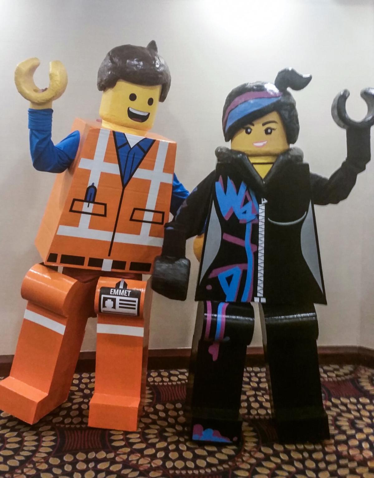 Lifesize Lego Halloween costumes