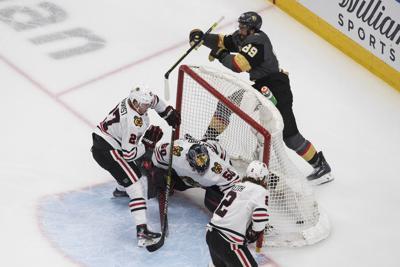 Blackhawks Golden Knights Hockey