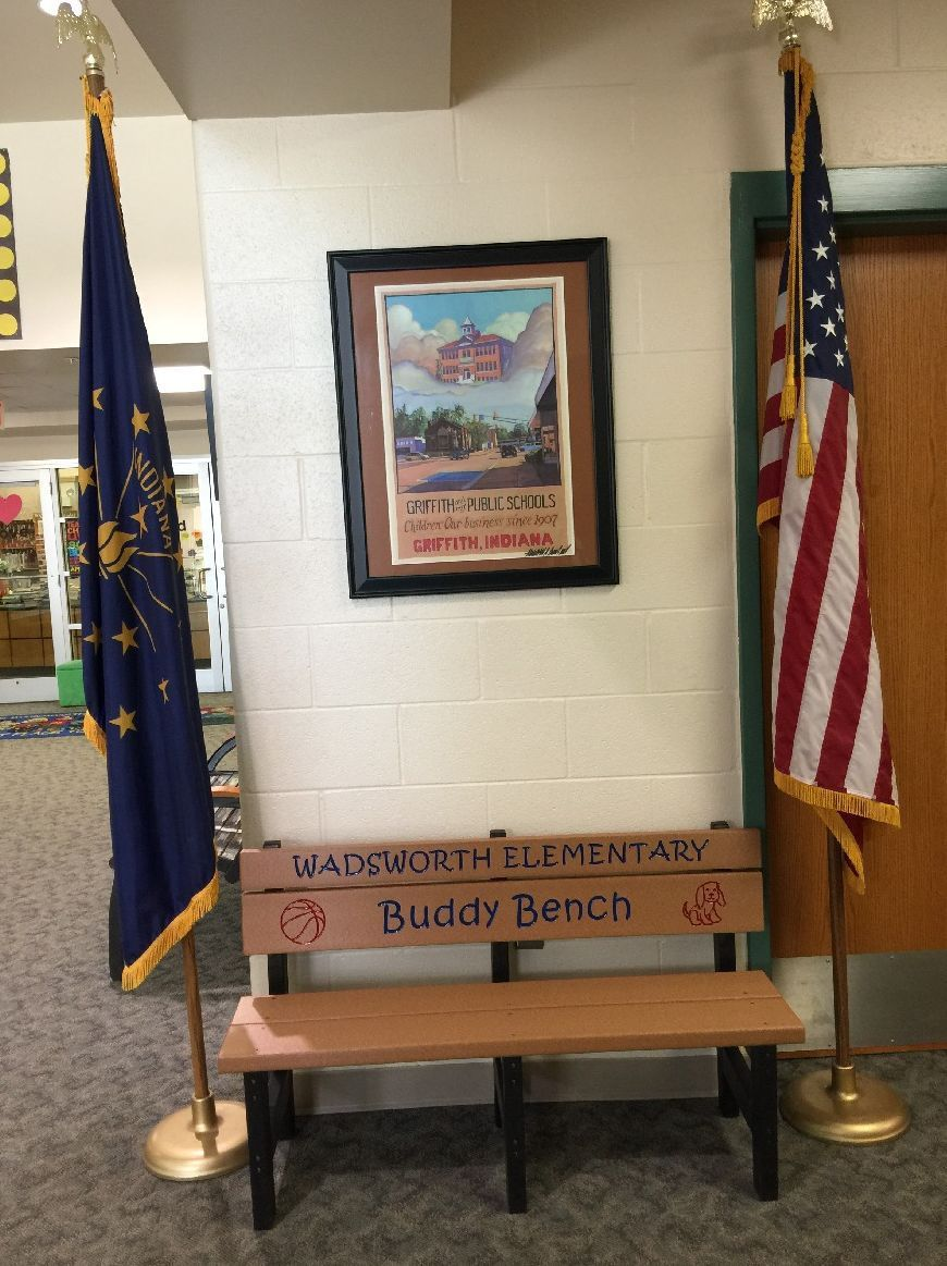 Indiana lake county griffith - Buddy Bench Donated To School