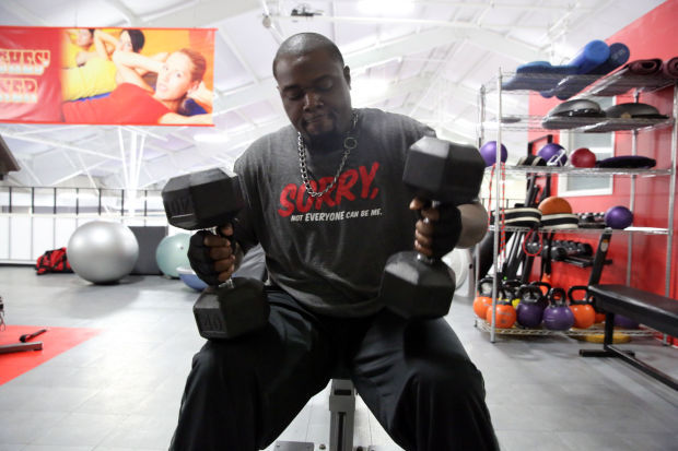 Curtis Sanders lost 100 pounds through his exercise routine (copy)