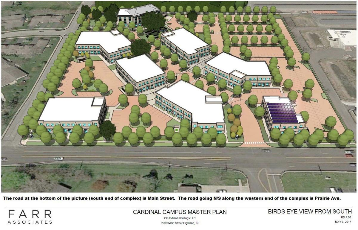 A rendering of what Highland's Cardinal Campus will look like