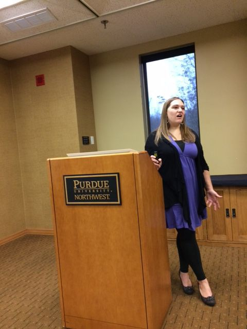 Jessica McGuire talks at PNW, Westville