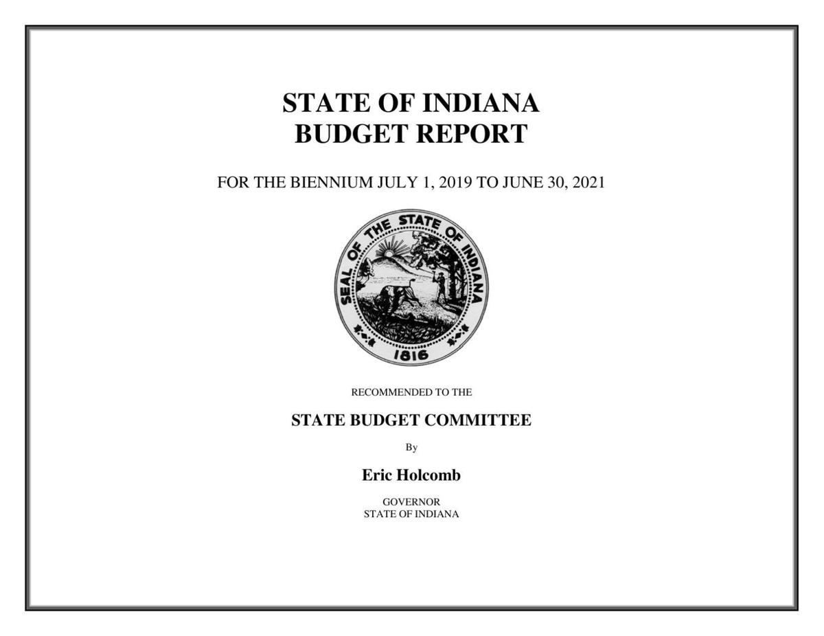 Gov. Eric Holcomb's 2020-21 proposed state budget
