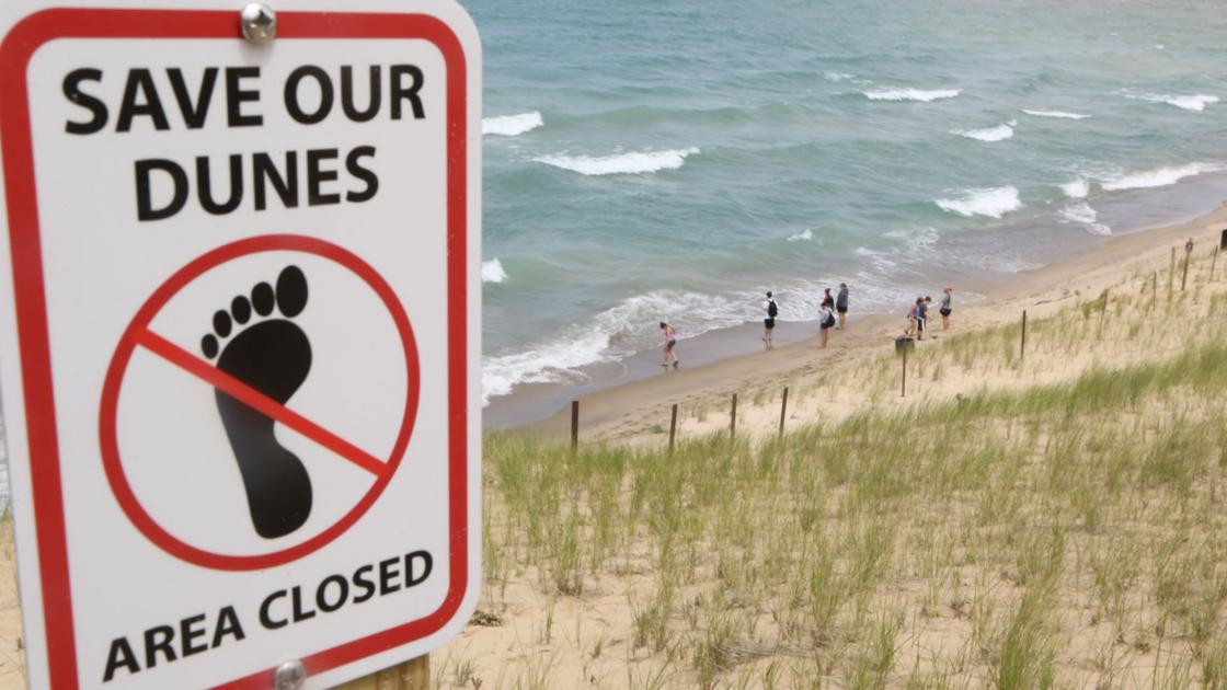Photos beach at mt baldy reopened friday laporte for Laporte county news