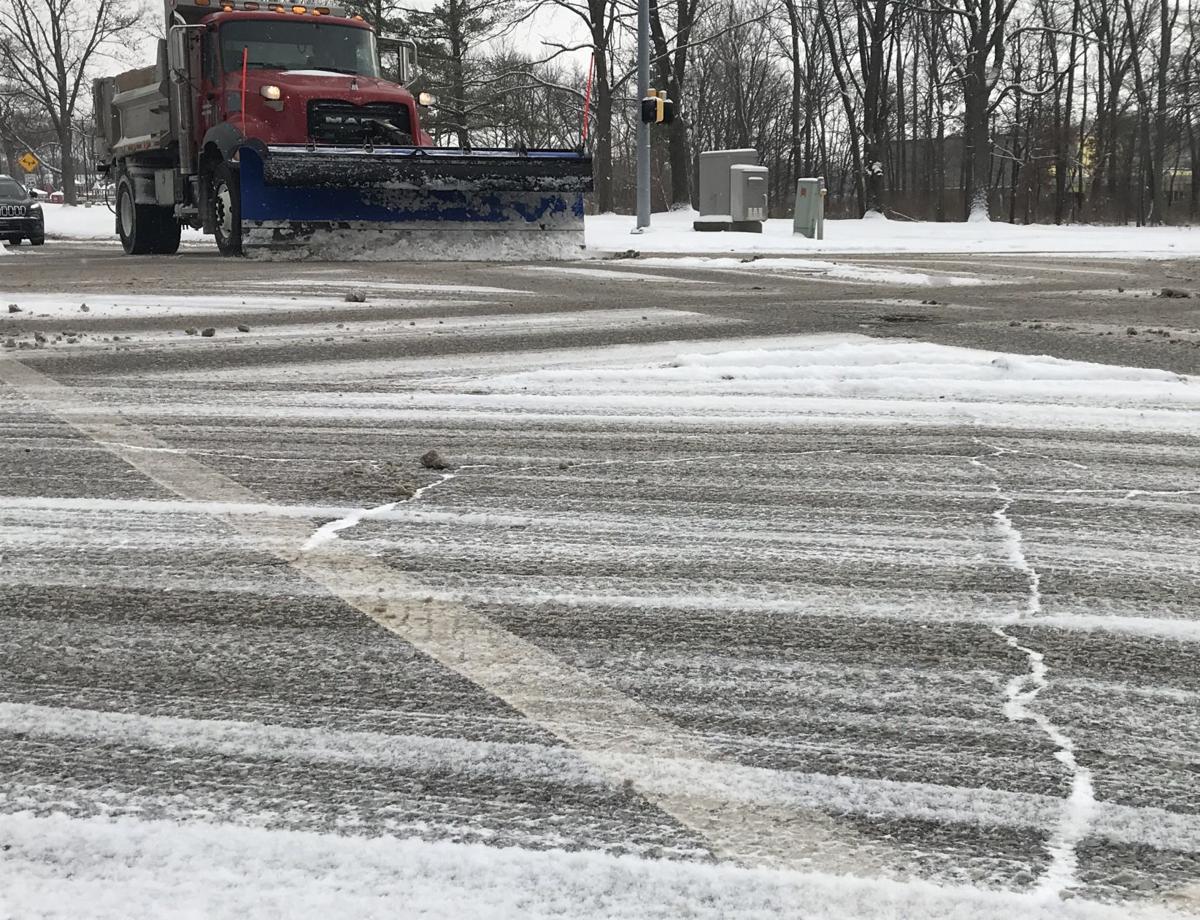 Winter road damage