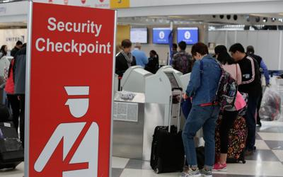 Air travel security stock