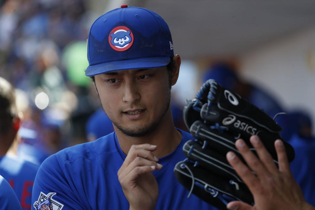 Image result for Yu Darvish strikes out four batters over two innings in spring training debut with Cubs