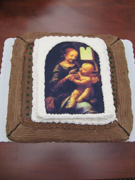 Cake Portrait Honoring Leonardo Da Vincis Painting