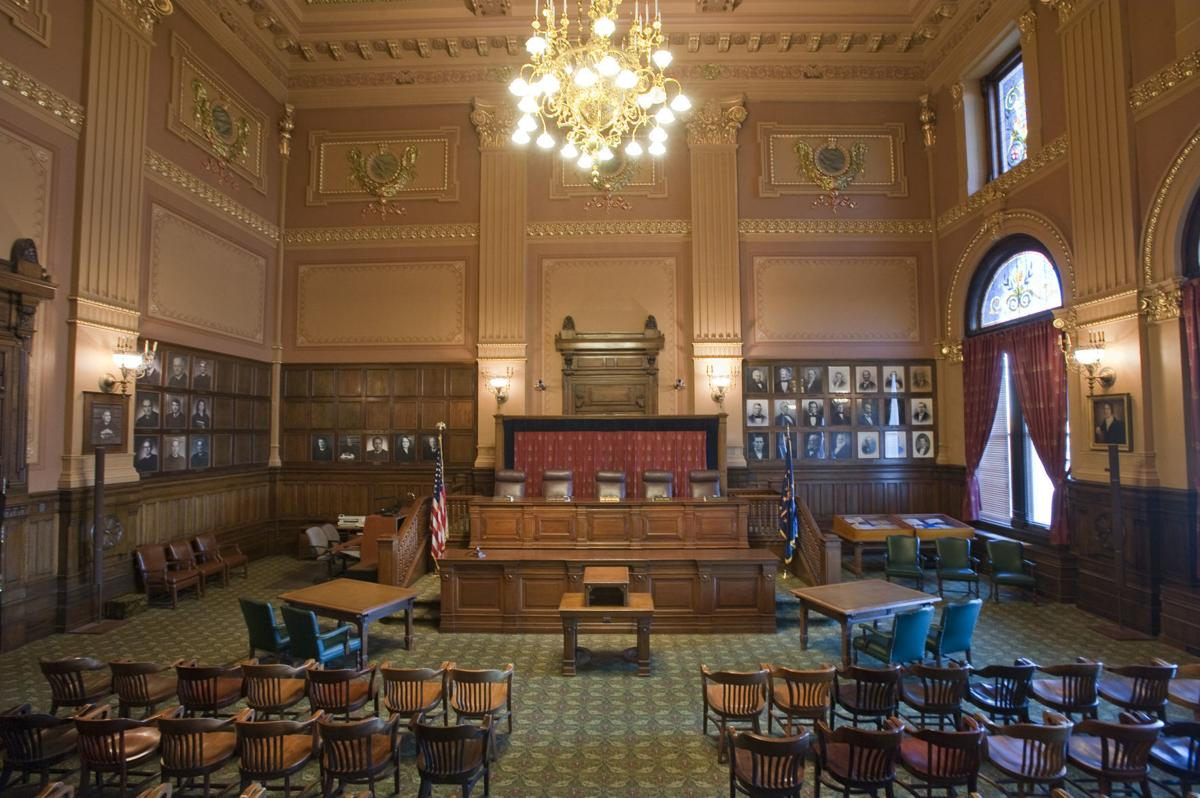 Indiana Supreme Court courtroom