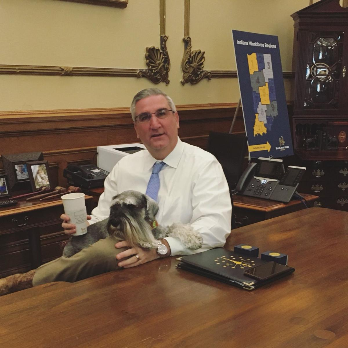 Governor open to treating Indiana's 'first dog' with CBD oil, if needed