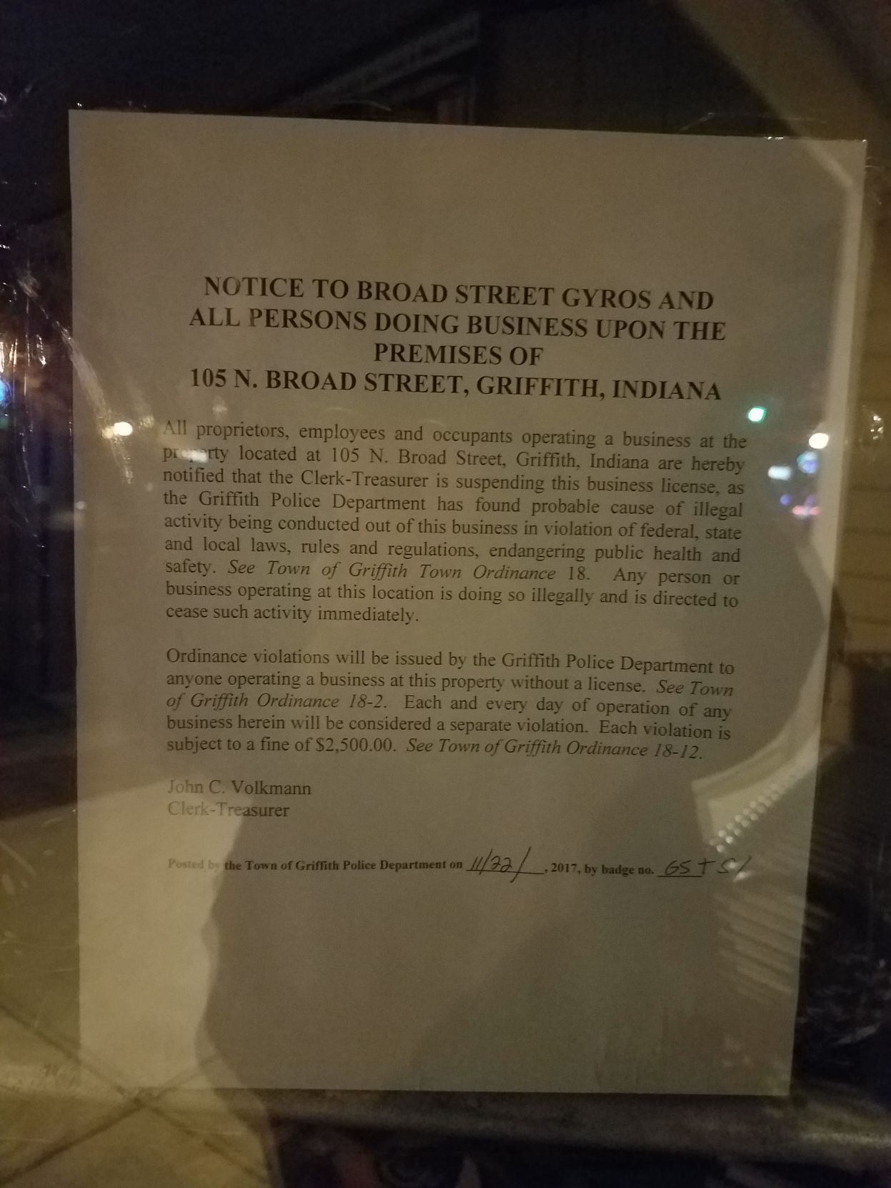 grifbizbust1jpg Broad Street Gyros owner facing felony