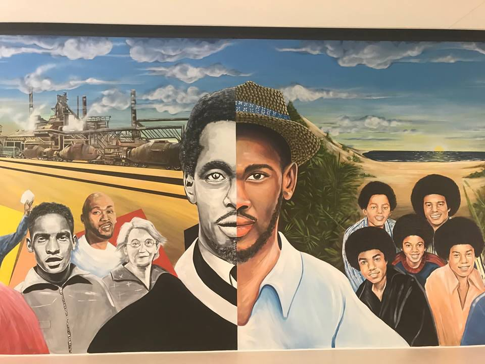 Downtown Gary library unveils massive mural depicting Steel City's rich history