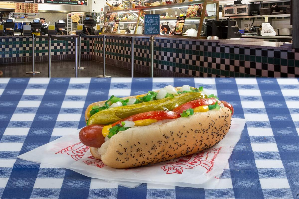 The Traditional Chicago Style Hot Dog Is Pictured At Portillo S
