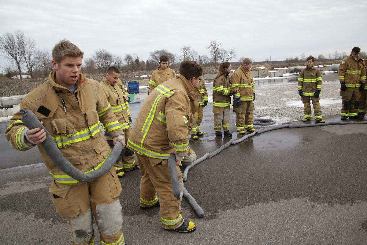 Students participate in the Porter County CTE Fire /Rescue program
