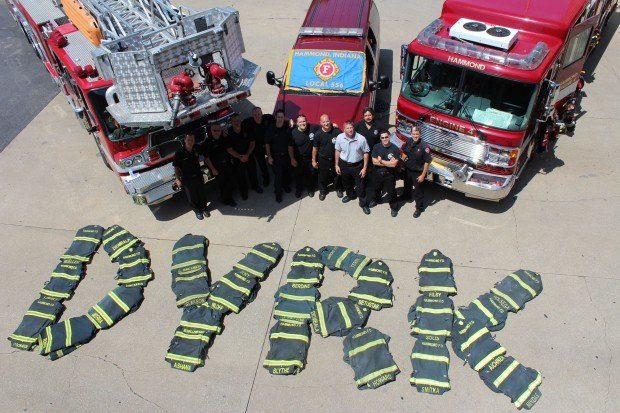 Hammond firefighters show support for 4 year old with cancer
