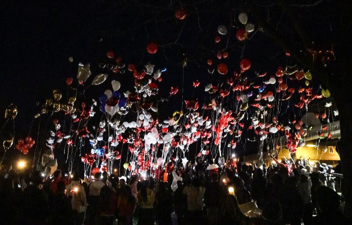 Balloon release honoring former Griffith basketball player Tyree Riley